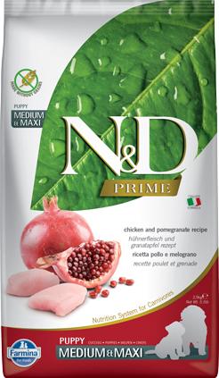 N&D Prime Dog Chicken & Pomegranate Puppy Medium & Maxi